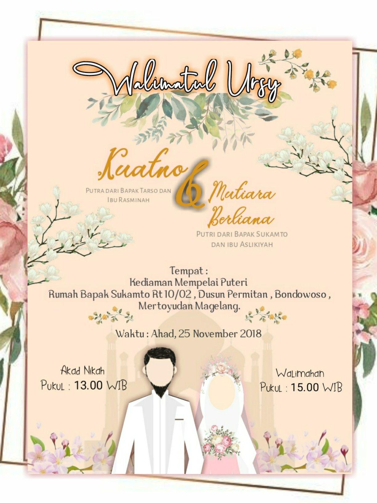 Design online | Kartu undangan pernikahan, Kartu pernikahan ...