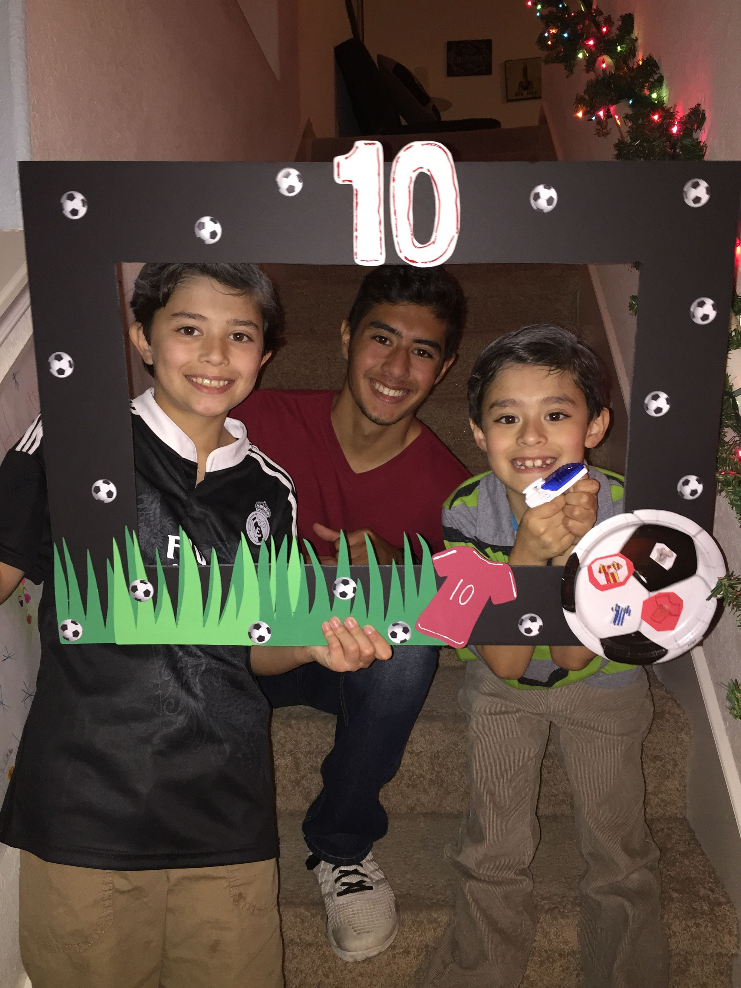 Happy Birthday Frame Soccer Birthday Parties Soccer Theme Parties Soccer Party