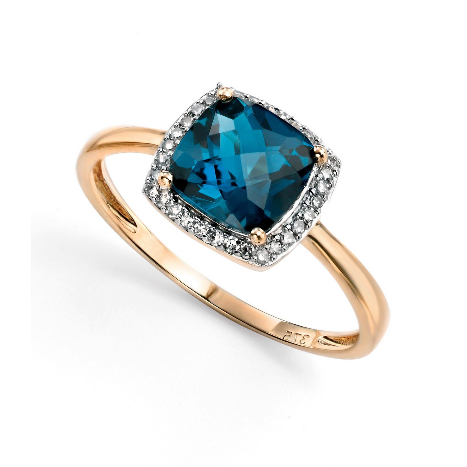 london blue topaz 9ct yellow gold Jewelry Pinterest