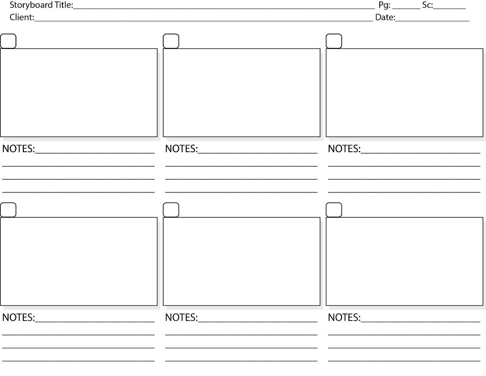 Storyboard Template Pdf Print Storyboard Tem Life Planner Goal