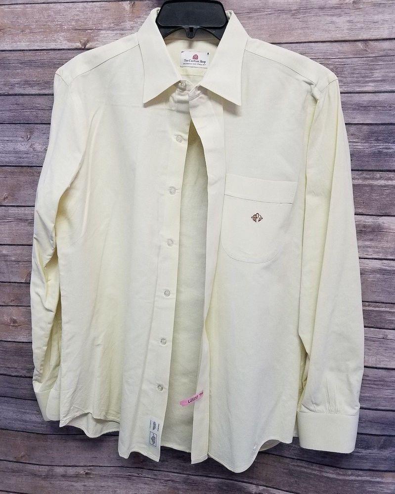The Custom Shop Shirtmakers Ivory Dress Shirt Mens L 16 618 5th