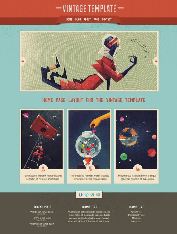Vintage Free Psd Website Layout Vintage Website Design Graphic Design Website Website Design Inspiration