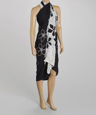 Loving this Black & White Floral Sarong Cover-Up - Women on #zulily! #zulilyfinds. This is adorable!