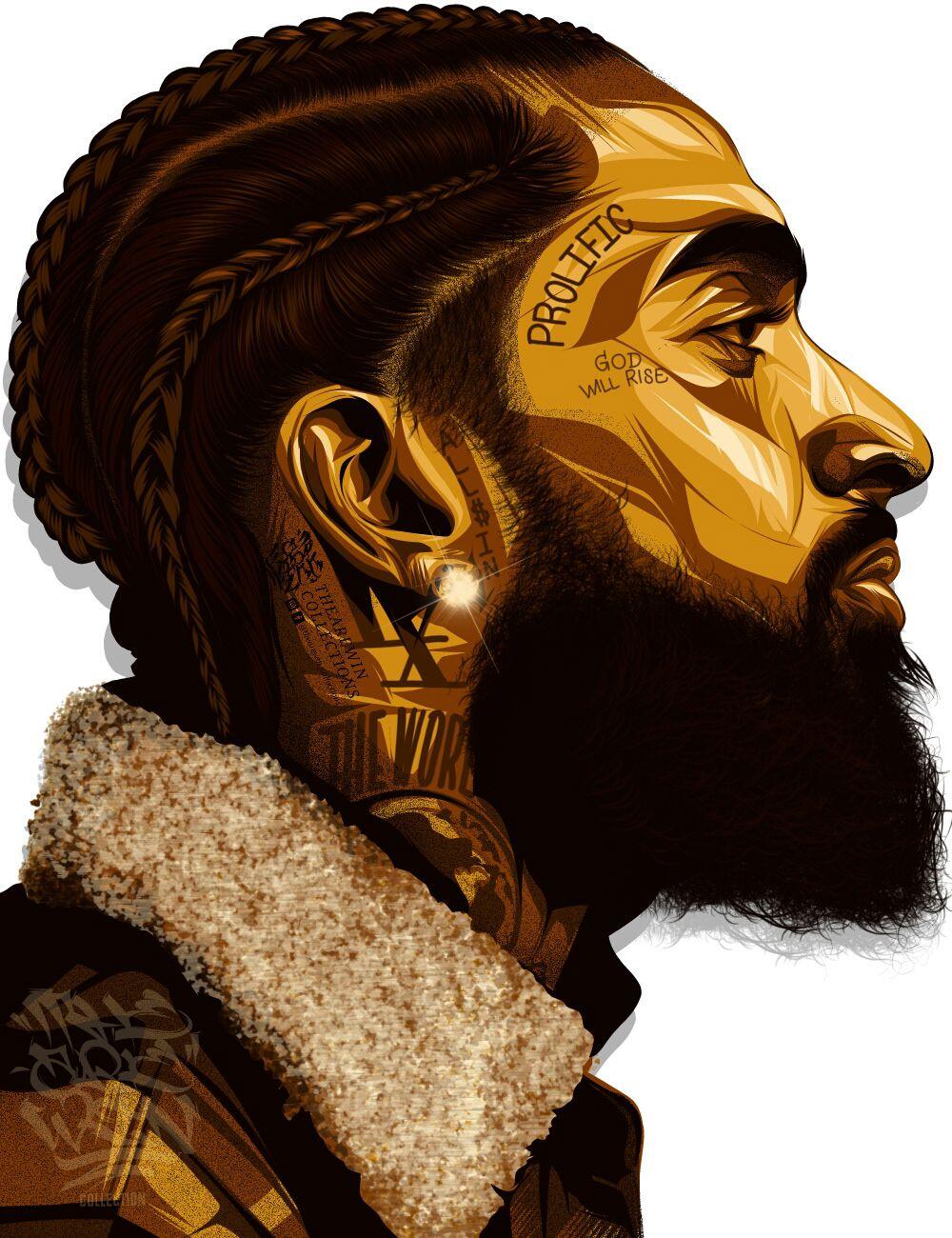 Nipsey Hussle on Behance in 2020 Tupac art, Rapper art