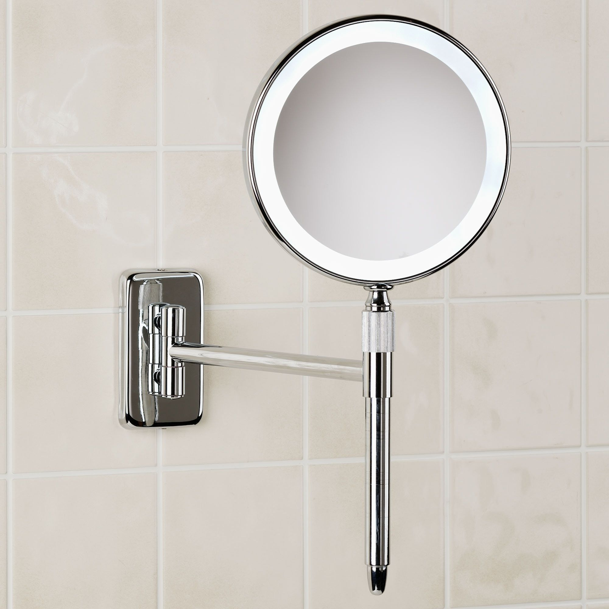 Wall Mounted Vanity Mirror Chrome | http://drrw.us | Pinterest ...