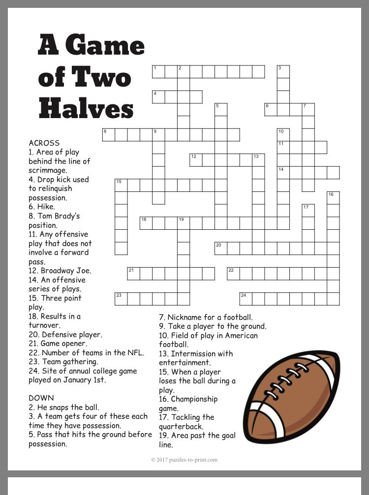 Pin By Nate Jill Wehmeyer On Homeschool Super Bowl Activities Printable Puzzles Football Kids