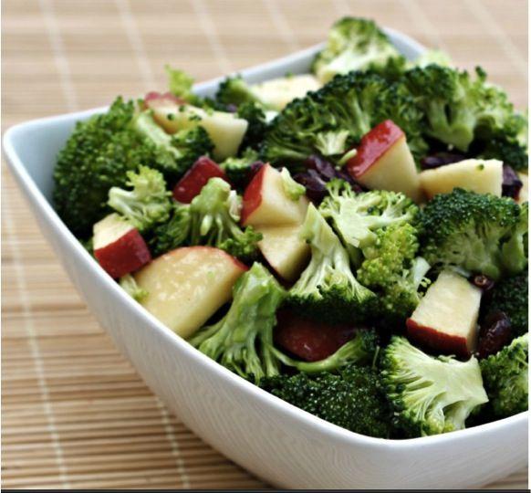 Low Calorie Broccoli Apple Raisin Salad #recipes low ...
