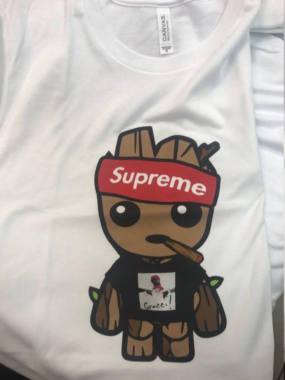 2c99970f Baby Groot Shirt / Gucci Mane shirt / Supreme Style / Baby Groot Shirt