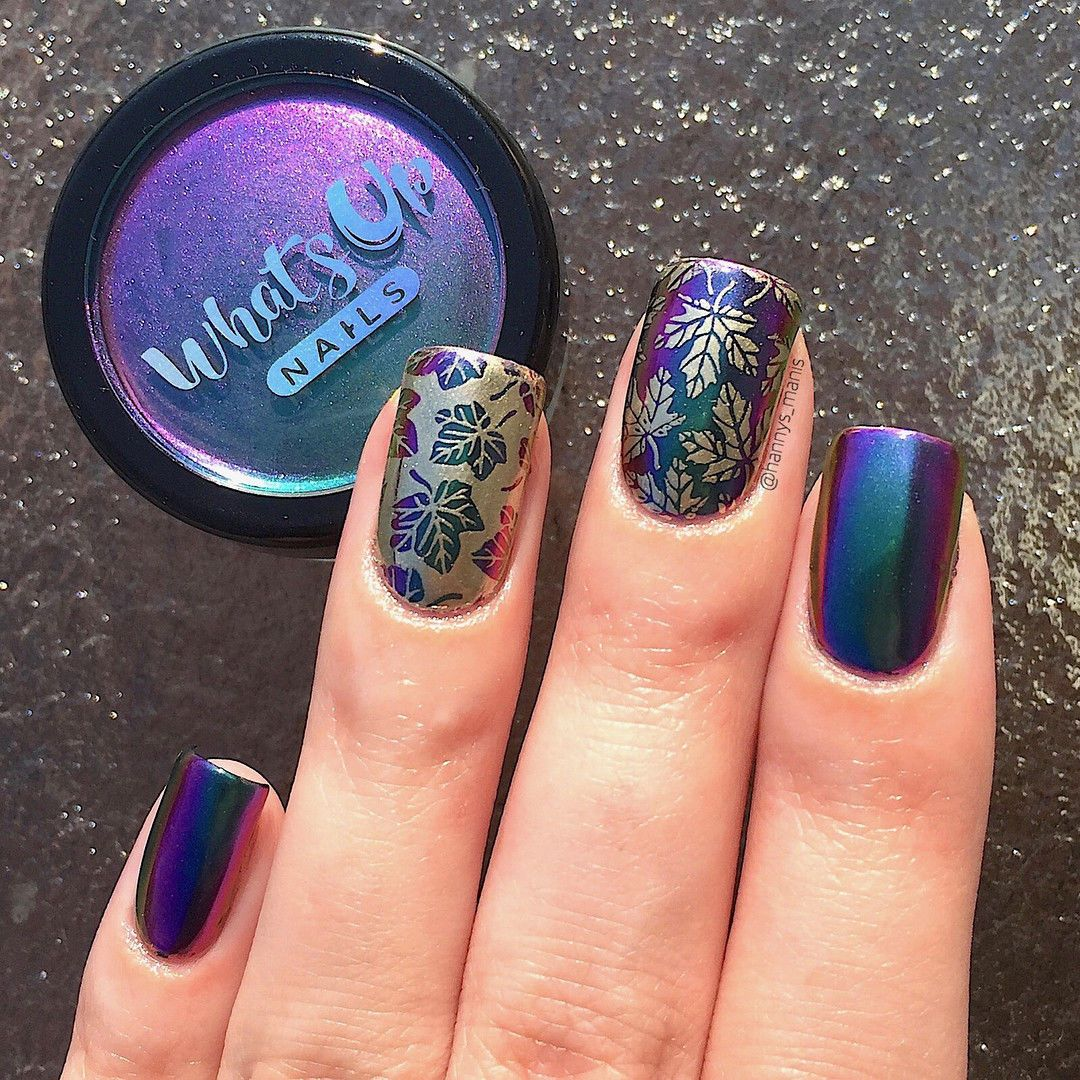 B021 Autumn Tales Stamping Plate For Fall Autumn Stamped Nail Art ...
