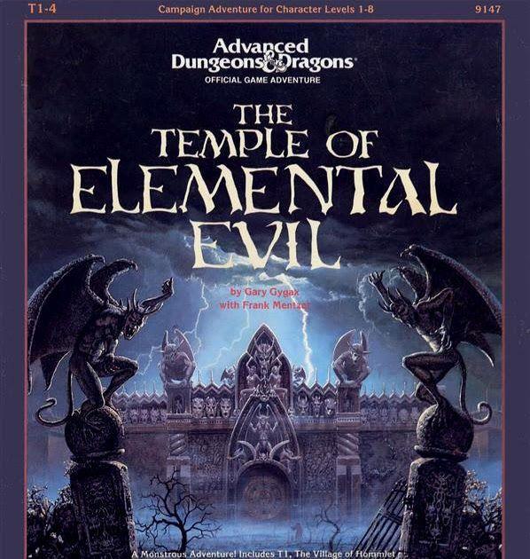School Bookcover Design: Best Rpg Scenario Ever: THE TEMPLE OF ELEMENTAL EVIL #rpg