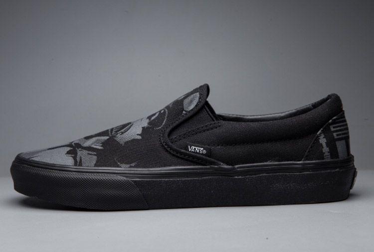 Full Black Vans Star Wars Anakin Skywalker Helmet Slip-On Skate Shoes  Vans 2a93c7122