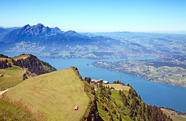 view from the top of mt rigi switzerland germany austria