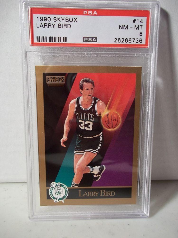 1990 skybox larry bird psa nmmt 8 basketball card 14 nba