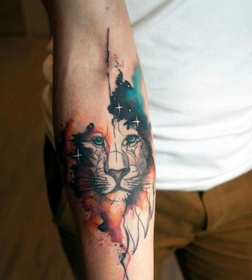 Originales Tatuajes En Acuarela Para Hombres David Pinterest