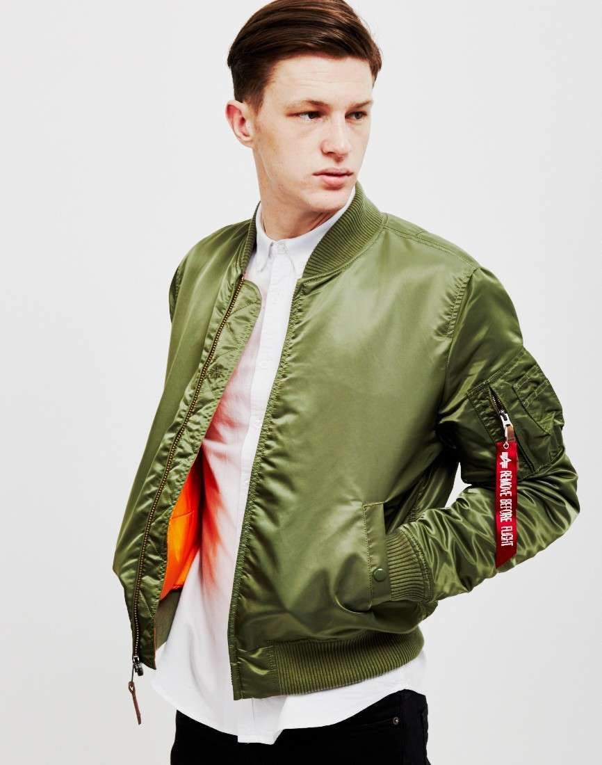 904ca89adab ALPHA INDUSTRIES MA1 VF-59 Bomber Jacket Green mens