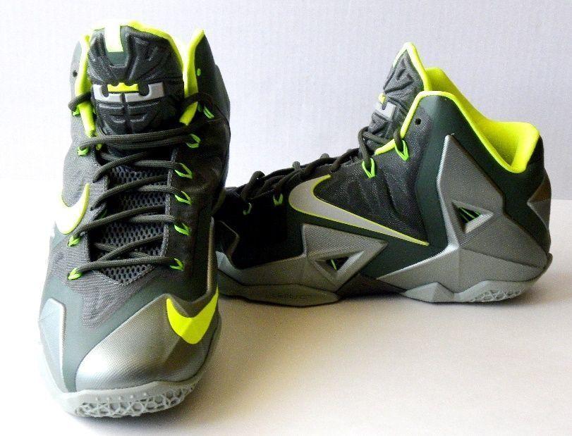 9eee90bff91 Nike Lebron James XI 11 Mens Dunkman Yellow Green Sz 11.5 Volt Elite 616175- 300  Nike  AthleticSneakers