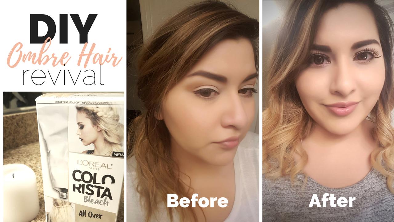 Diy ombre hair color revival beauty hair hack with loreal diy ombre hair color revival beauty hair hack with loreal colorista bleach all solutioingenieria Choice Image