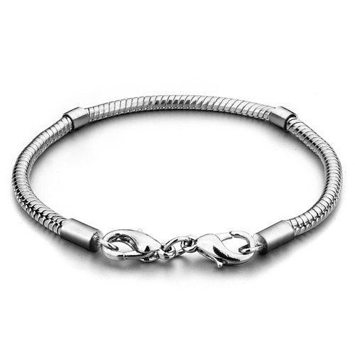 revendeur 8786c 91f26 Amazon.com: Pugster Silver Starter Master Charm Bracelet ...