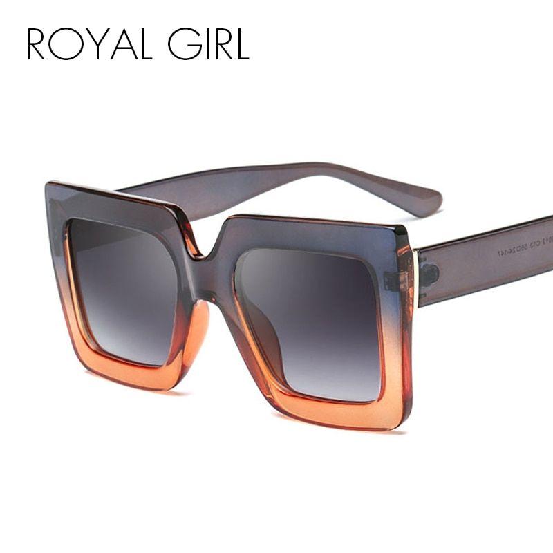 ababcc0ac5a ROYAL GIRL Vintage Square Sunglasses Women 2018 Brand Designer Black Pink  Clear Eyewear for female Gradient Lens UV400 SS615