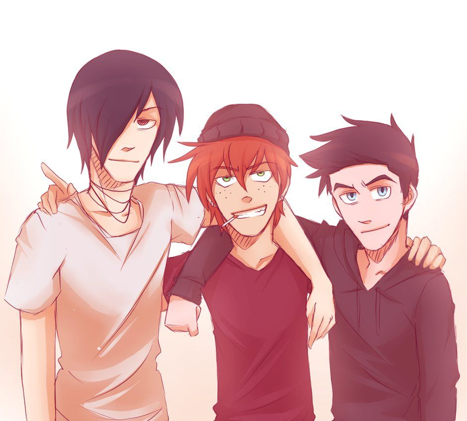 Randy,Keith and Troy from Jeff the killer (ALL RIGHTS TO KYOICHII, THE ARTIST WHO MADE THIS)