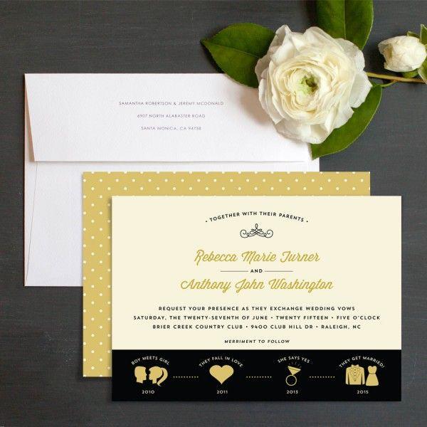 Love Timeline Wedding Invitations By Elizabeth Victoria Designs