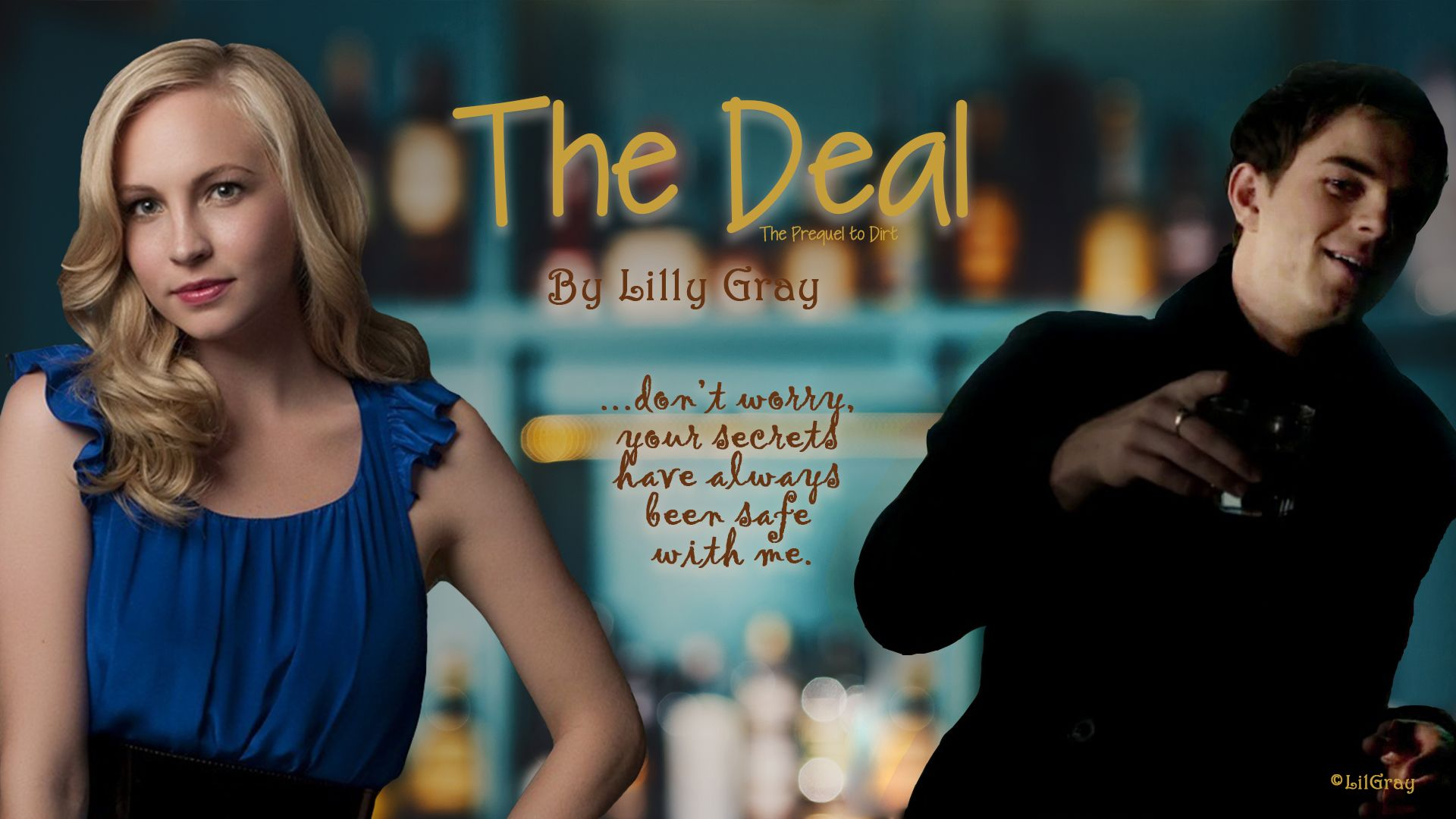 Story Banner for my Kol/Caroline story The Deal | My