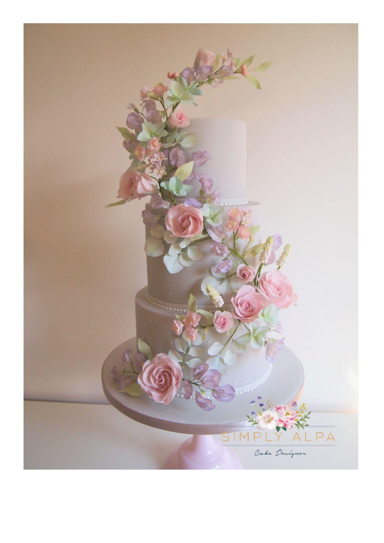 20+ Flower garland for wedding cake ideas