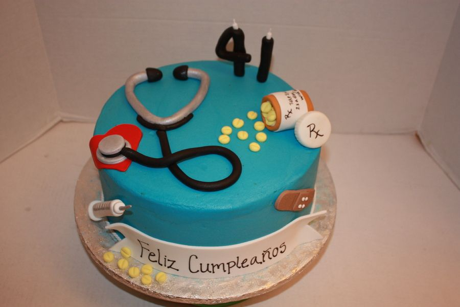 Awesome Birthday Cake For A Doctor With Images Cake Doctor Birthday Funny Birthday Cards Online Chimdamsfinfo