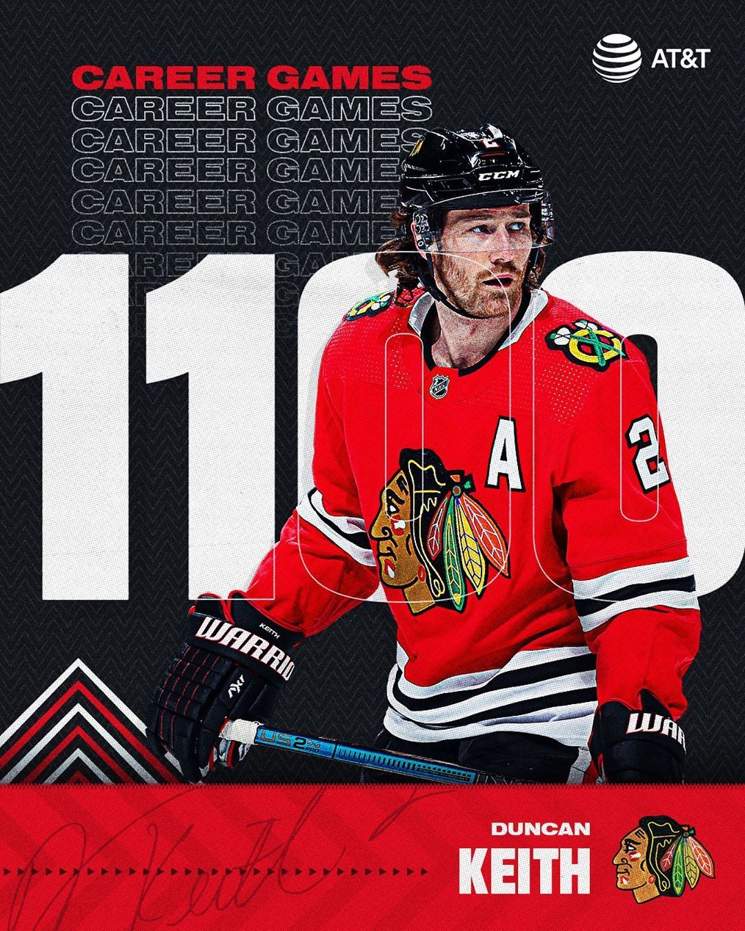 Chicago Blackhawks On Instagram Congrats To Duncan Keith On Game No 1 100 Chicago Blackhawks Hockey Blackhawks Chicago Blackhawks