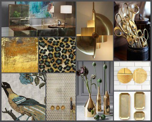 Mood Board Gold Brass EyeonSite Luxury Lifestyle