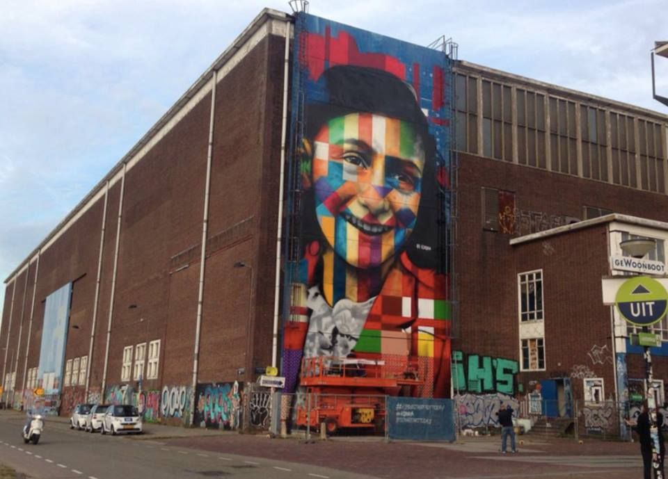 """Portrait of Anne Frank"" BY kobra ( Amsterdam ) Street"