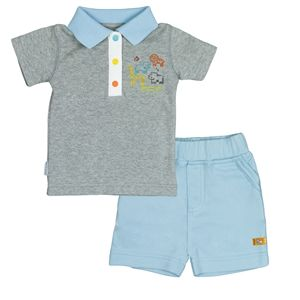 8953740bc Kushies On Safari T-shirt   Short Set - Heather Grey