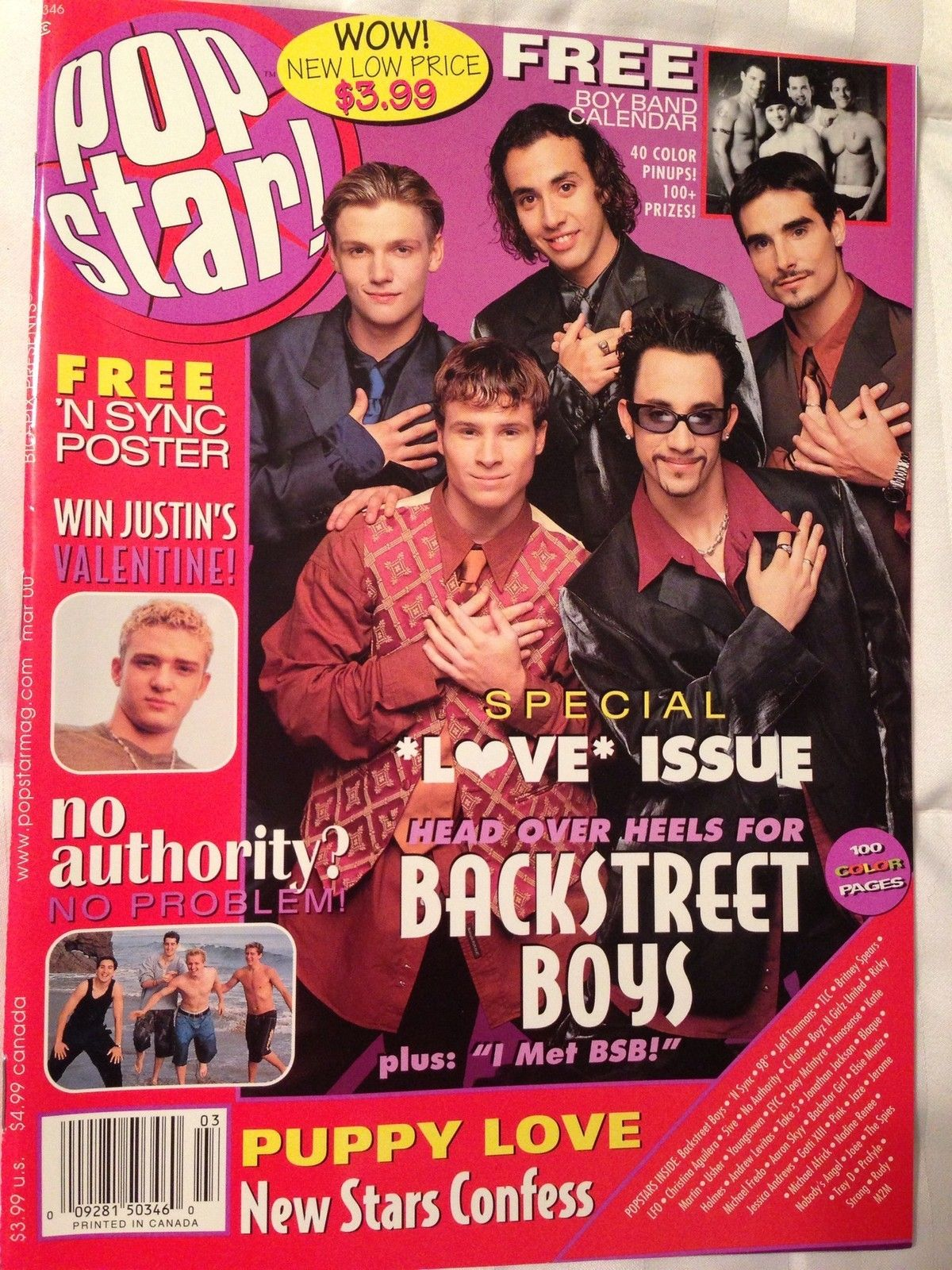 Pop Star Teen Magazine March 2000 Backstreet Boys NSYNC Britney Spears Christina