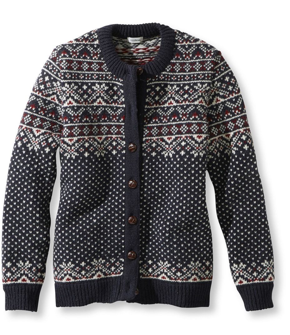 1912 Heritage Sweater, Bird's-Eye Fair Isle Cardigan | wish list ...