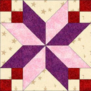 star quilt blocks free patterns | Quilters Corner Club - State ... : star block quilt pattern - Adamdwight.com