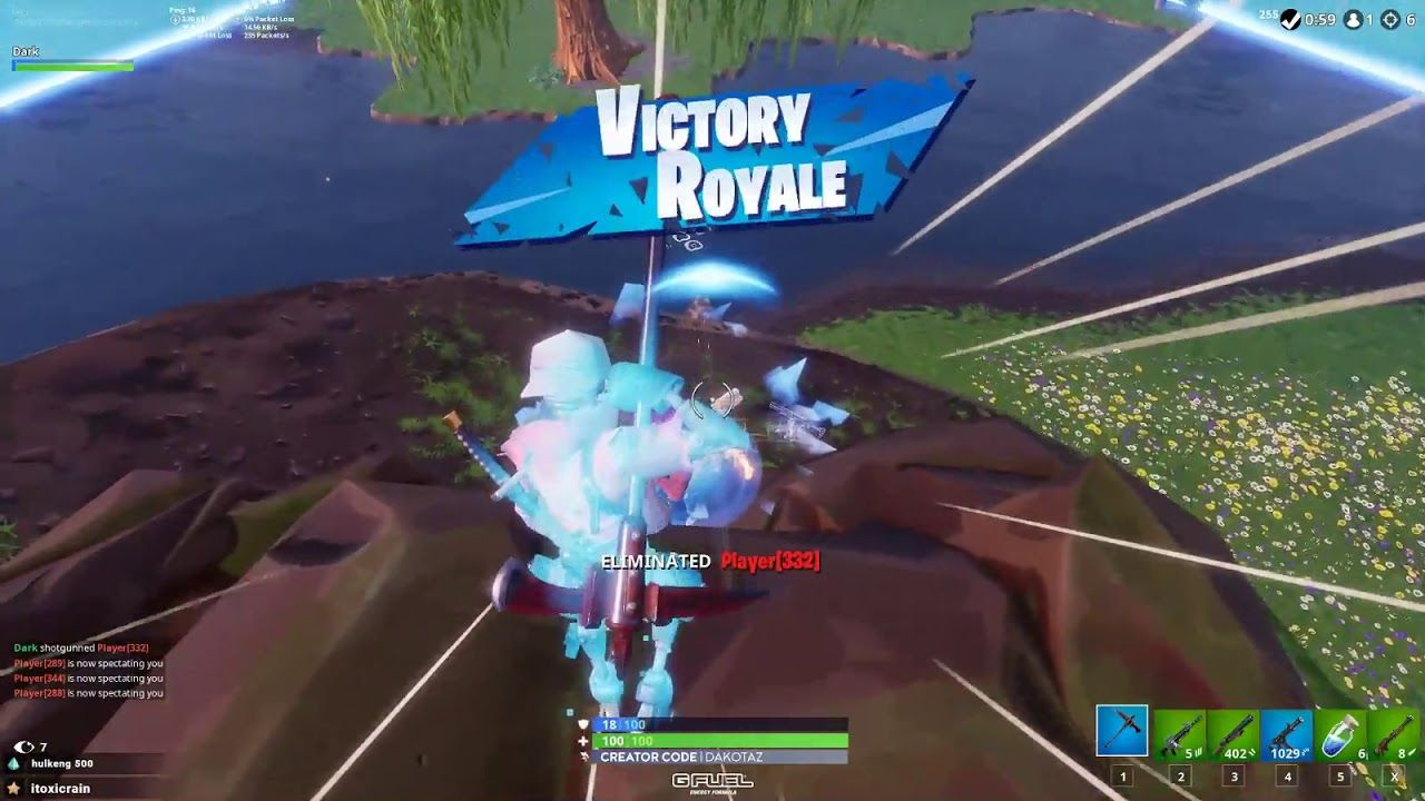 Dakotaz Clutching It With No Mats No Bullets Almost Fortnite Fortnite Copyright Act Ask For Help
