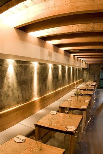 the carne restaurant interior by inhouse brand architects wall restaurant decorated with lights restaurant room design ideas picture on visualizeus - Inhouse Interior Design