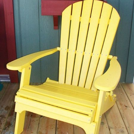 I Pinned This Folding Adirondack Chair In Yellow From The Lemonade