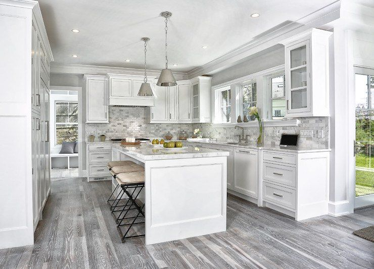 15 Cool Kitchen Designs With Gray Floors Grey Kitchen Floor White Kitchen Design Grey Wood Floors Kitchen