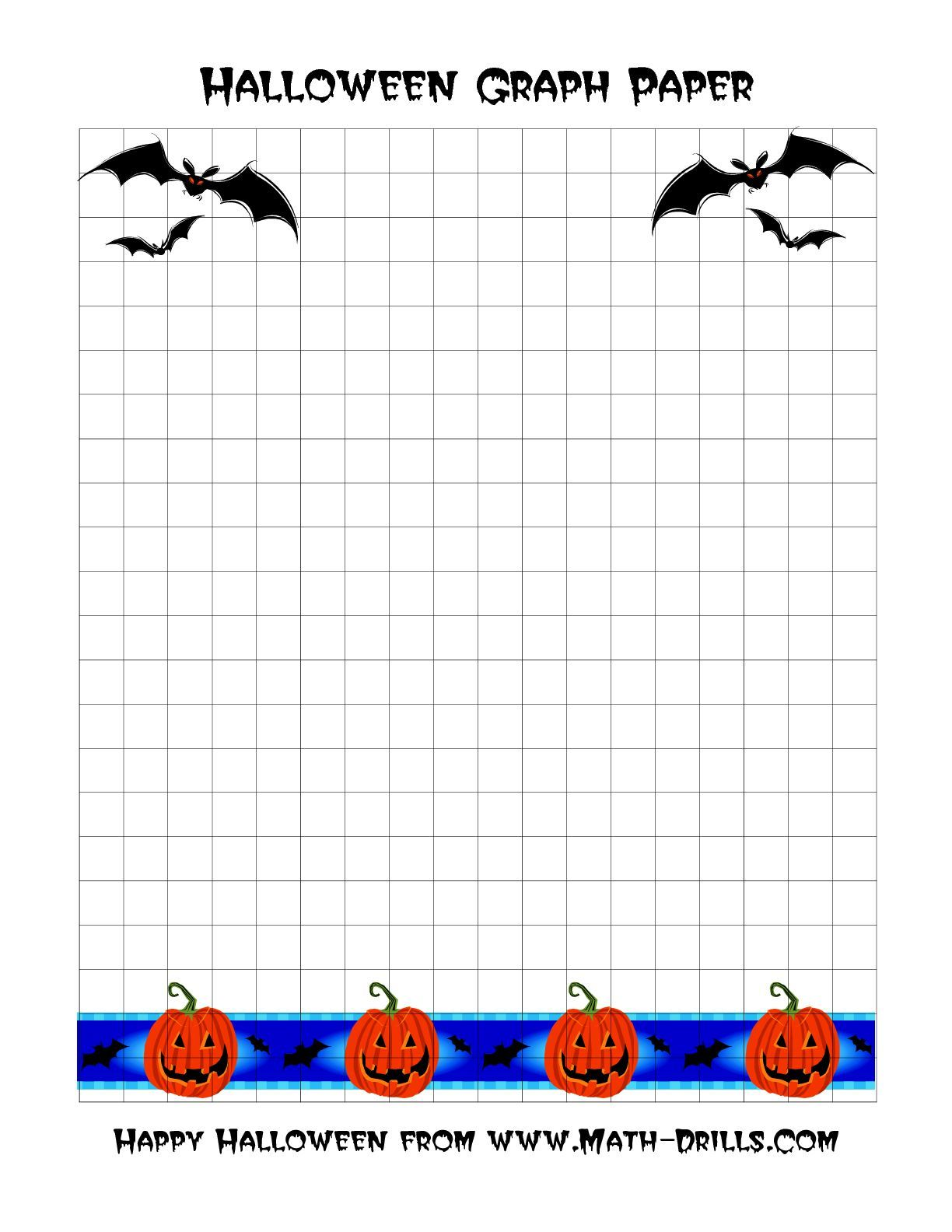 The Halloween Graph Paper A Math Worksheet From The