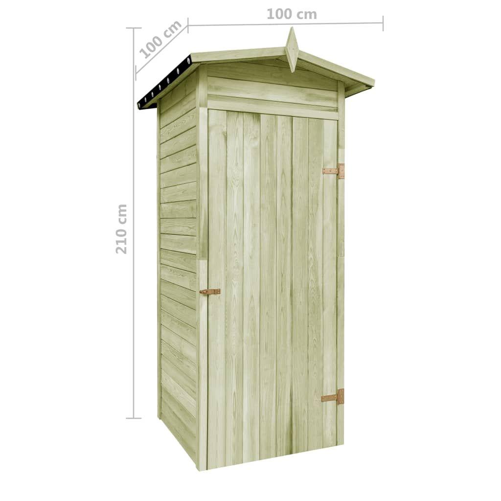 vidaXL Garden shed impregnated pine 100x100x210 cm