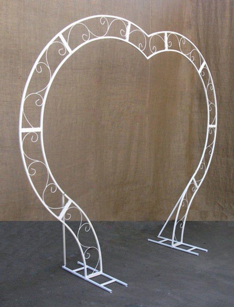 Wedding arch Heart, Heart shaped wedding arch, Whi