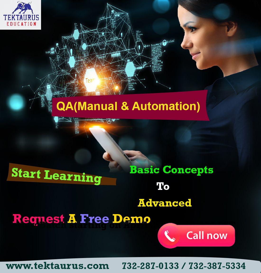 Qa manual automation testing training online
