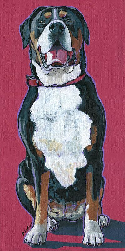 Saved from the Brink | Cat art, Greater swiss mountain dog ...