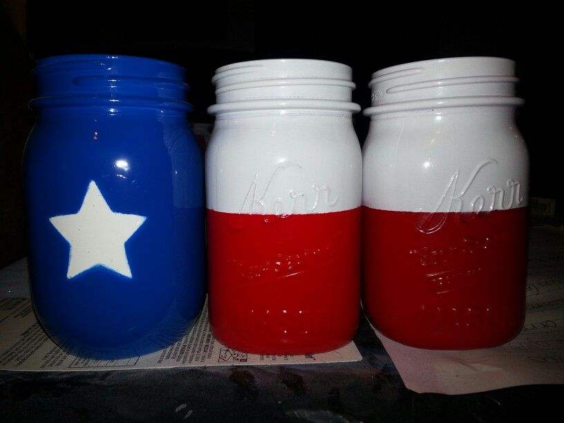 Texas Flag Mason Jars Texas Flag Mason