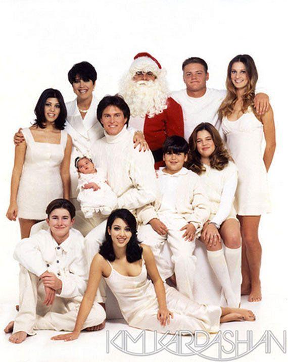 See All The Over The Top Kardashian Christmas Cards Through The Years Kardashian Christmas Kardashian Christmas Photo Kardashian Family Photo