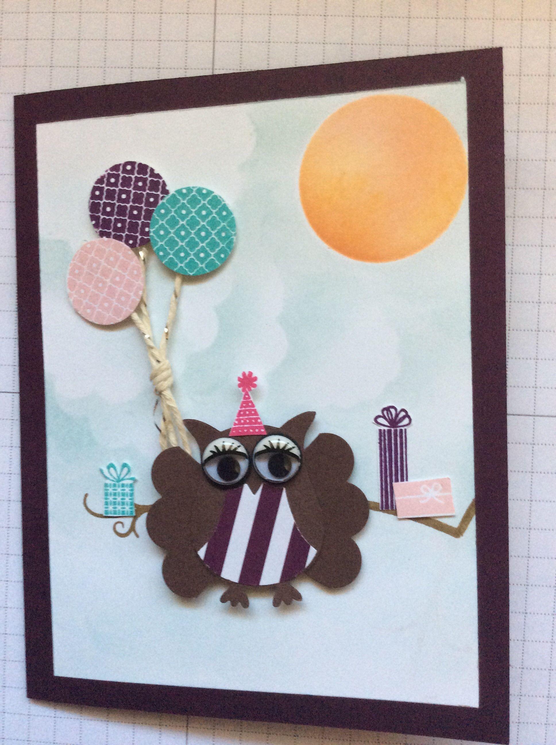 Owl Builder birthday card