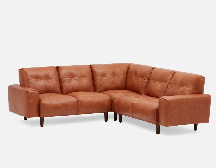 Pleasing 2899 Ricard All Leather Sectional Sofa Copper Margo Machost Co Dining Chair Design Ideas Machostcouk
