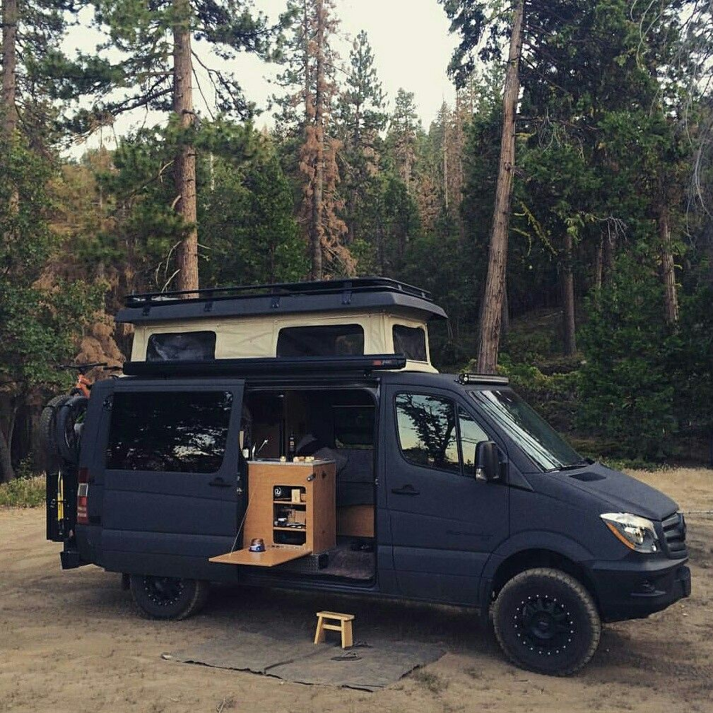 Sportsmobile 4x4 Sprinter Van With Aluminess Roofrack And Rear
