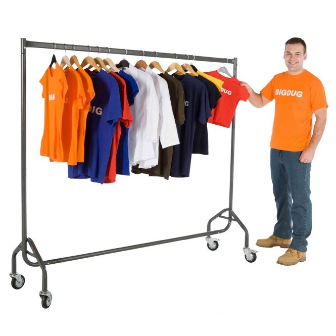 Nestable Garment Rail Trolleys | Retail display, Garment ...